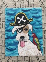Lisa Montez painted a portrait of a dog housed at the Corpus Christi Animal Care Services in an effort to get him adopted.