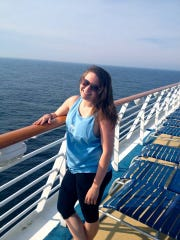 Columnist Jenna Intersimone on a recent cruise.