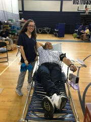 St. Georges student K'Lynn Perez '18, with her father, Jose, who was donaed blood because K'Lynn recently required several units for a surgery.