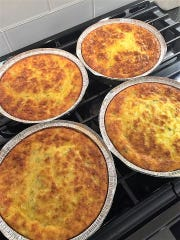 Mothers' Day breakfast for Mom can be easy for Dad and the kids and guaranteed delicious with one of these crustless Mexican quiches available at this year's Ultimate Bake Sale.