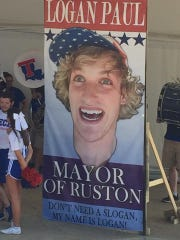 Logan Paul, a vlogger, acted as mayor of Ruston over the weekend for an episode of his online series.