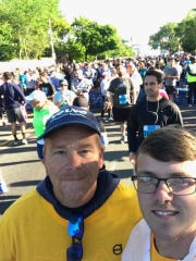 Shippensburg's Ken Renfrew, left, and his son Bailey competed in Philadelphia's Broad Street Run, a 10-mile race, last weekend.