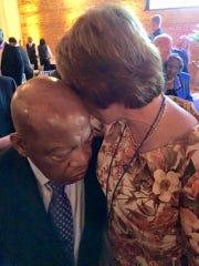 Georgia Congressman John Lewis with former Florida