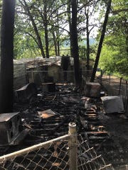 A fire early Thursday, May 18, 2017, destroyed three