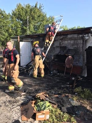 Images from a commercial fire at the Chucky Duck restaurant, 1507 Avenue D, Fort Pierce, on Saturday, May 20, 2017.