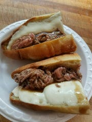 Roast beef and gravy sandwich at Fran's Deli