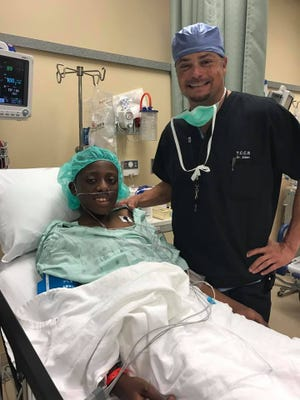 Dr. Quentin Allen performed cataract surgery to restore the vision of this 14-year-old patient.