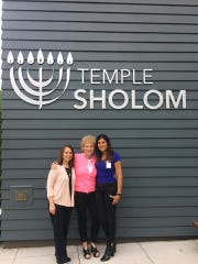 Temple Sholom Cantor Darcie Sharlein, Nancie Rothman, one of the founders of Hearts for Emma, and Sue Quiroga of the NJ Sharing Network led a program about organ and tissue donation at Temple Sholom in Scotch Plains.