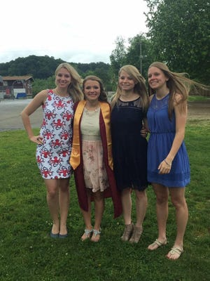 Alyssa Lanier, second from left, and her three sisters, (left to right) Olivia, Ariel and Alexis,  have each been the valedictorian of their graduating class at Berne Union.