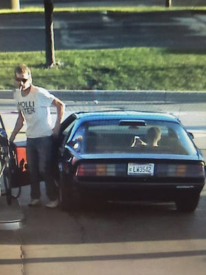 Police are hoping to identify the person in this picture and the car he was driving. The man and car could be involved in at least one of a series of vehicle thefts in the Marshfield area.