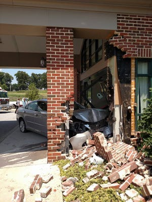 A car crashed into a medical building in Hopewell Township on Tuesday afternoon. It remains under investigation.