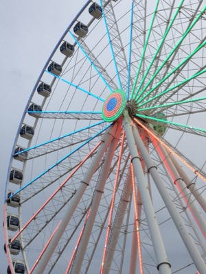 The SkyWheel in Myrtle Beach, South Carolina, has 42 air-conditioned gondolas. It opened in May 2011.
