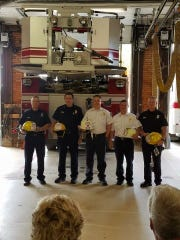 (From left to right) Lieutenant Ryan Coppus, Captain