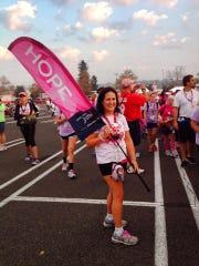 Sharon Slosarik of Cedar Grove during the Susan G. Komen 3-Day walk.