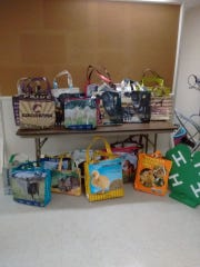 Some of the eco-friendly shopping bags created from