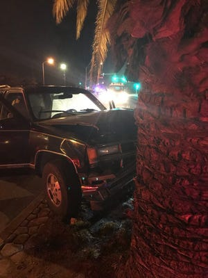 A vehicle crashed near the location of a DUI checkpoint in Oxnard. The driver was arrested on suspicion of DUI.