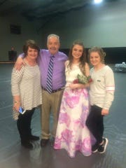 Dave Fenton and his wife, Rebecca and their daughters.