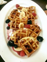 Guyton Heirloom Cuisine's French toast waffles with
