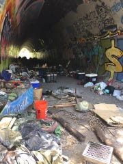 This photo, from Matt Ahlberg, shows a tunnel that Shasta Support Service plans to clean up Saturday.