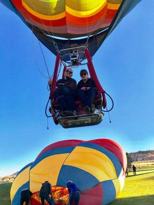 The Arizona resident is the world's first paraplegic hot air balloon pilot. Paralyzed from the waist down after a car accident in 1996, the 42-year-old has been taking to the skies to share his love of flying.