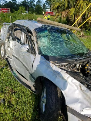 St. Lucie County Fire District and Sheriff's Office crews responded to a rollover crash Friday, July 14, 2017, at Range Line and Glades Cutoff roads.