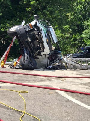 Two vehicles were involved in a crash on Route 9 near Roa Hook Road in Cortlandt on Monday around noon.