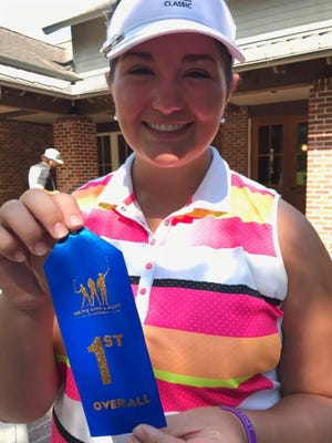 Kaitlyn Montoya of Shreveport won the 14-15 division of a Drive, Chip and Putt qualifier in Alexandria. Sister, Addison, took home the 7-9 crown.