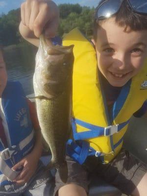 Matthew Lorenz shows off his catch.