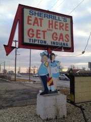 A former Tipton restaurant's sign, which was a longtime landmark along US 31, put a humorous spin on the fact it also was gas station. Today, the inside joke has lost some of its punch as more gas stations and convenience stores are serving prepared food items.