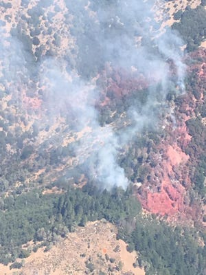 The Sandy Fire is burning on the Shasta-Trinity National Forest in western Trinity County.