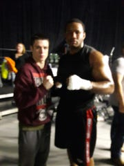 Brandon DeSpain (left) stands with fellow Big Dog Boxing