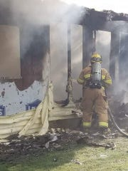 Firefighters from Blue Ridge Fire and Rescue and the