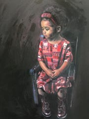 A painting of Brooke Lauve's daughter, Emory.