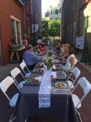 Meals from the Market brings serves outdoor, communal,
