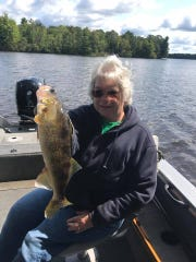 Darlen Matson with a good walleye.