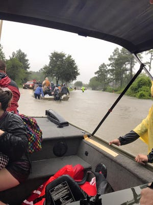 Salvation Army Relief Workers aren't just working from dry kitchens. They are also out in the flooded areas of Houston.