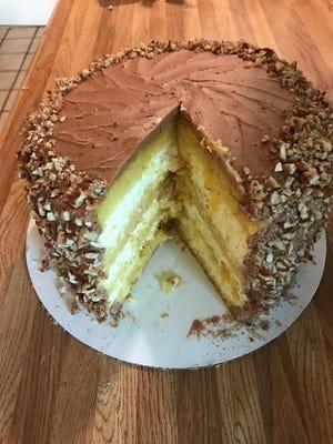 Mocha cake prepared by George Barzizza