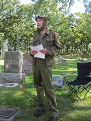 William McIntosh portrays Lew Dowler, a paratrooper, at 2016's Legends & Lyrics.