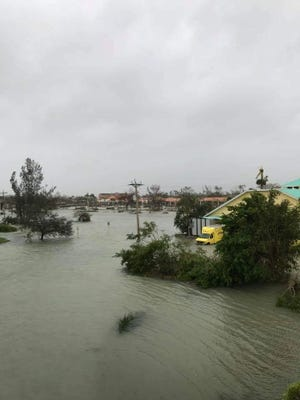 Damage from Hurricane Irma can be seen on Marco Island, Fla. Sunday, September 10, 2017.