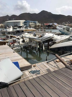 Hurricane Irma hit St. Martin Island on Wednesday night. Kelley and Bill Kellett were stranded there during an evacuation.
