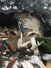 Much of Meredith Hunter's mother's house was in shambles
