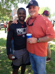 Former FSU football players Dexter Carter, left, and Tony Yeomans.
