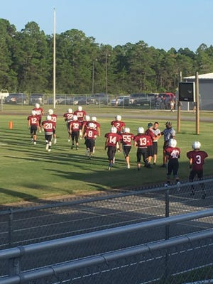 The Franklin County football team beat Liberty County for the first time in school history Friday.