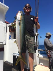 Pat O'Brien from Oxnard caught a 20-pound yellowtail aboard the Sea Jay.
