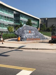 """""""The Rock"""" at the University of Tennessee before noon on Tuesday, Sept. 19, 2017."""