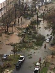 Flooding is shown in Hato Rey, in San Juan, Puerto