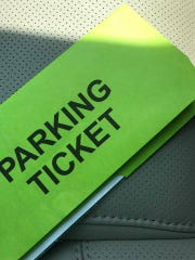 A city of Henderson parking ticket, issued in the central downtown business district.