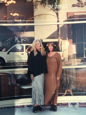 Natalie's Fine Threads shop owners Natalie Siman (left) and Denise Sindelar.