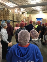 New Oxford High School students tour Utz Quality Foods as part of Manufacturing Week in 2016.
