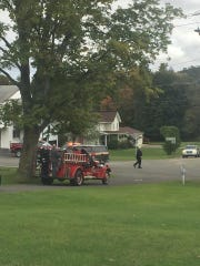 Ed Shapley's coffin was carried on a Perch fire truck